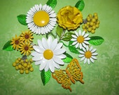RESERVed Gail Destash Craft Lot of Vintage Jewelry, Brooches Earrings Enamel Flower
