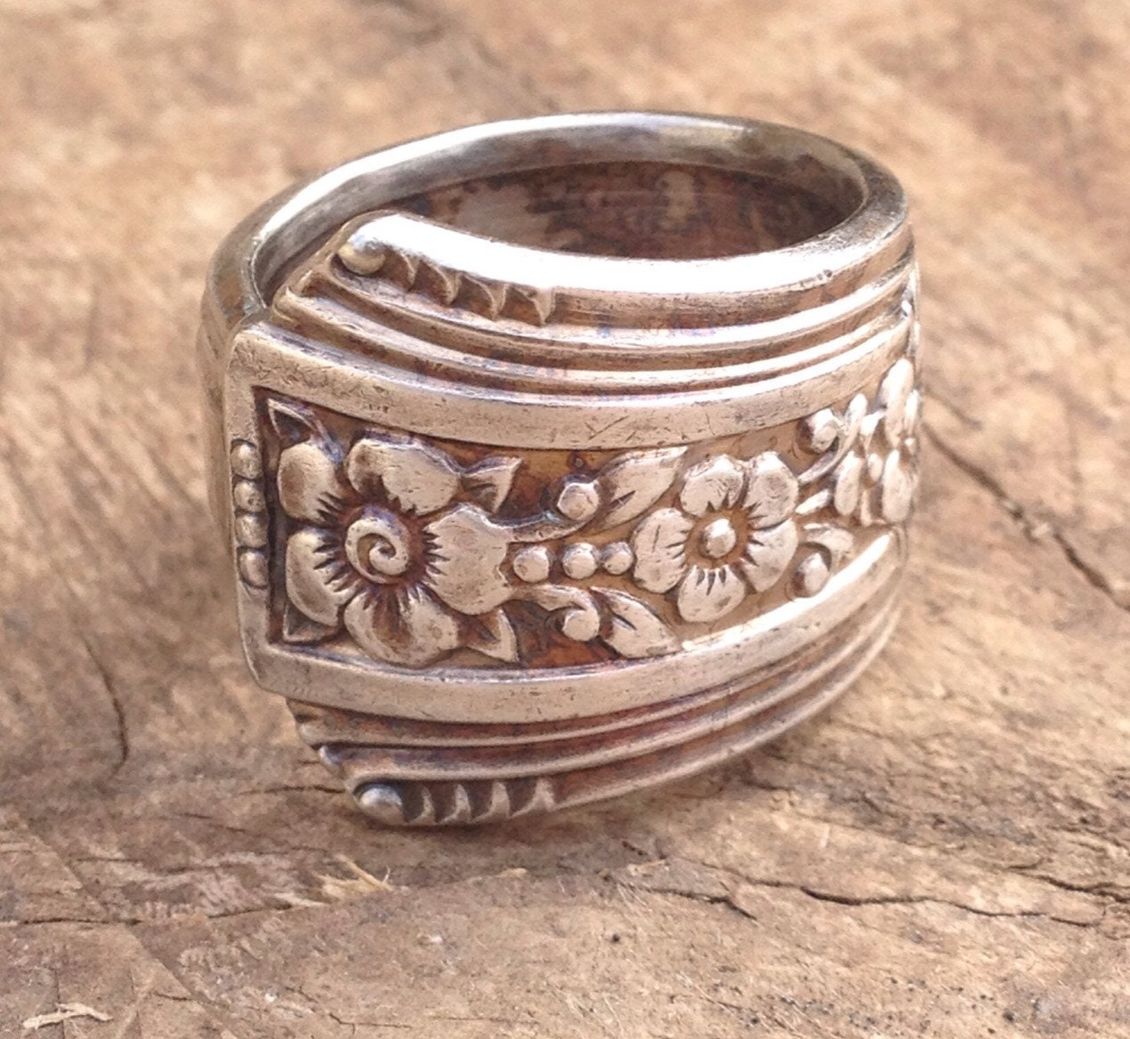 spoon ring vintage spoon rings silver plated purity