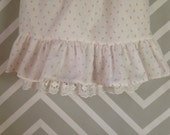 vintage floral lacey white and pink newborn baby dress by something pretty size 0-3 months