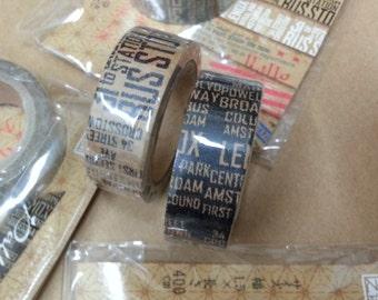 Diary Adhesive Masking Deco Washi Tape - Newspaper (1.5 cm Width)