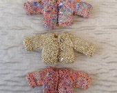 3 Miniature bear cardigans