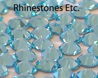 Lt Turquoise 20ss Swarosvki Elements Rhinestones Flat Back 36 pieces