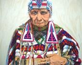 Medicine Woman Lithograph by John Bruce
