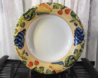 """Vintage 90's Dansk Fall Harvest pasta bowl 13 1/2"""""""