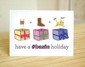 Basic Holiday - Funny Holiday Card / #Basic