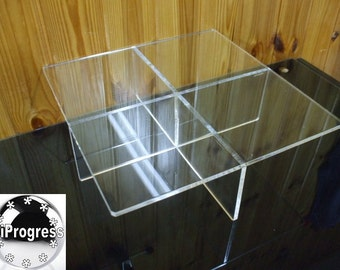 Large Clear Acrylic Square Display Stand for Wedding Cake