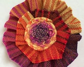 """Wrap Scrap Hair Clip, made from Upcycled Nejesa Handwovens """"Canyon"""" wrap scraps"""