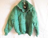 Vintage Eddie Bauer Green Down Ski Jacket Pullover Large