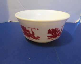 Scottie Dog Cereal Bowl Hazel Atlas Kiddie Ware