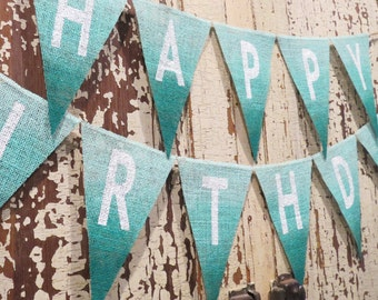 Mermaid Birthday Decoration Burlap Banner / Photography Prop