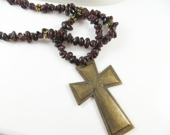 Clearance - Golden cross necklace