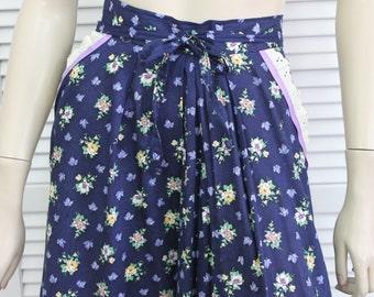 "Vintage Skirt Gunne Sax Size 9 Prairie Skirt 26"" Waist 1970s"