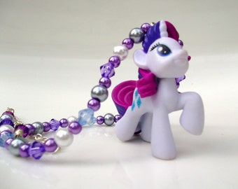 Rarity - Purple & White My Little Pony Blind Bag Necklace (PV4)