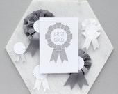 Papercut 'Best Dad' Card