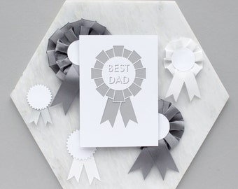 Papercut 'Best Dad' Card