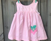 Vintage Strawberry Dress 4t