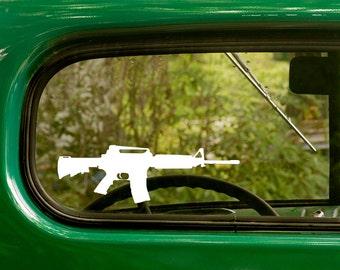 Ar-15 Decal, Assault Rifle Decal, Rifle Sticker, Pro Gun Sticker, Ar-15 Sticker, Laptop Sticker, Gun Decals, Vinyl Decal, Car Stickers