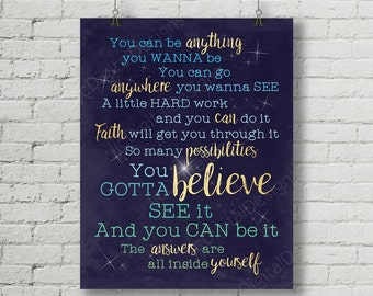 Finding Neverland Inspired Fan Art, Printable Finding Neverland musical lyrics, stars, Word Art Poster, 11x14 and 8x10 INSTANT DOWNLOAD