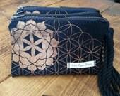 Flower of Life Wristlet wallet ~sacred geometry~