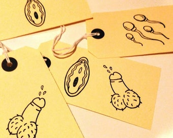 Hen night gift tags