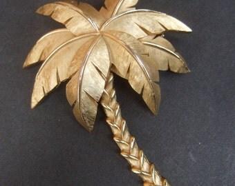 TRIFARI Unique Palm Tree Brooch c 1970