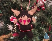 Krampus Gingerbaby! Felt Gingerbread ornament