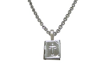 Religious Bible Locket Pendant Necklace