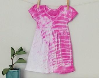 Pink Shibori Dyed Dress