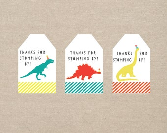 dinosaur party favor tags - printable