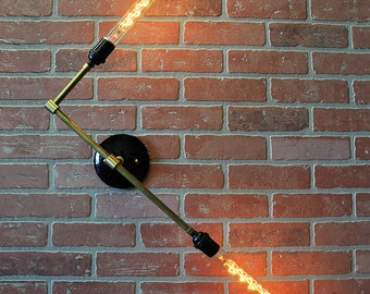 RAY - Double Wall Light - Modern Wall Sconce - Ceiling Light, Industrial Wall Lighting