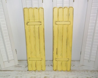 Wooden Shutters Interior Shabby Rustic Shutters Coastal Beach Cottage Decor