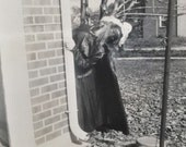 Original Antique Photograph Strange Maiden
