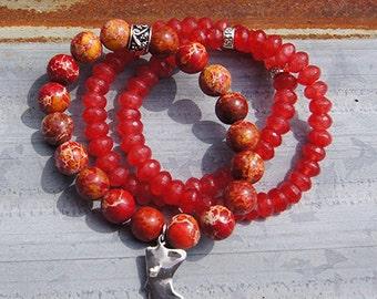 MN Charm Bracelet - Color: Crimson