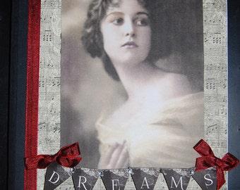 Dreams OOAK Altered Notebook/Journal