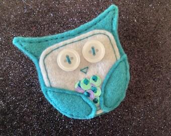 Felt Owl Brooch - Tarquin