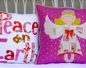 Angel Delight Christmas cushions. PDF pattern