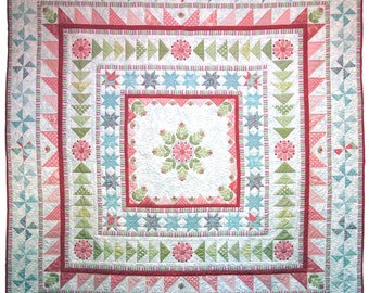 Snowflake Medallion Quilt Pattern PDF by Emma Jean Jansen - Immediate Download