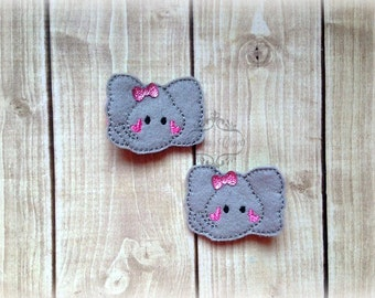 Elephant hair clip Baby Elephant hair clip Baby hair clip soft clippie Pick one or two. Pick Left side or Right.