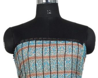 Vintage Up-cycle Silky Sari Maxi Sun Dress India DY18