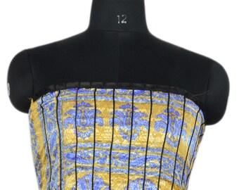 Vintage Up-cycle Silky Sari Maxi Sun Dress India DY31