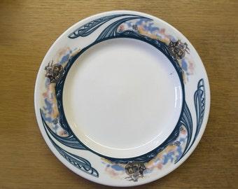 Vintage Jackson China dinner plate (s) Viking ship decoration.