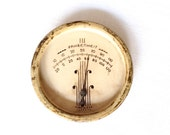 Antique Metal Thermometer - Fahrenheit Temperature - Vintage Thermometer - Deco Temperature Gauge - Wall Thermometer - Round Thermometer