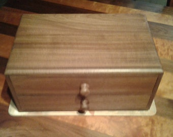 Walnut jewelry display box