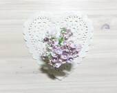 Forget Me Nots Flowers - Vintage Faded Lilac