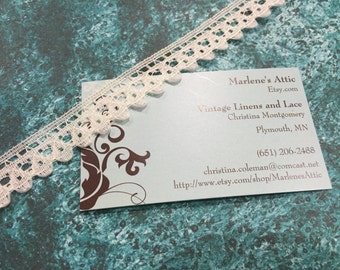 1 yard of 3/4 inch Off White chantilly lace trim for bridal, veils, altered couture, costume by MarlenesAttic - Item 4T