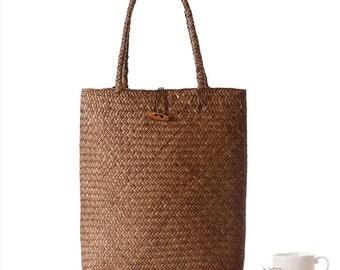Retro Natural Straw Women Handmade Shoulder Bag