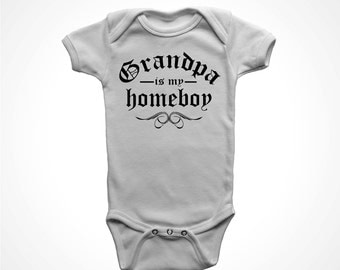 grandpa onesie i love grandad baby boy one piece bodysuit poppa is my homeboy funny grandpa promotion promoted to poppy humorous gifts 6 12