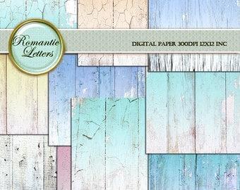 Bois papier fond bois numérique numérique toile de fond pour nouveau-né numérique mariage bois photo décor Shabby Chic mariage bois scrapbook Digital