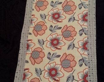 Modern Floral print  table runner/ summer table runner/ table decor/Table linens