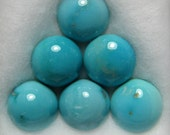 Carico Lake Mine Natural Turquoise Cabochons from Nevada, 8.11 cttw.